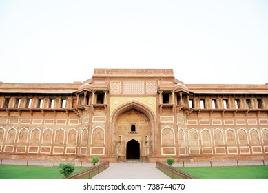 Jahangiri Mahal in Agra Fort. Jahangiri Mahal was built by the Mughal emperor Akbar sometime during 1565-73.