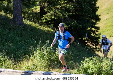 Jahorina, Bosnia and Herzegovina - 29.07.2017 - Ultra trail running, sport activities, forest trail marathon.