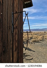Jail house in Ballarat, a ghost town in Death Valley National Park, California, USA
