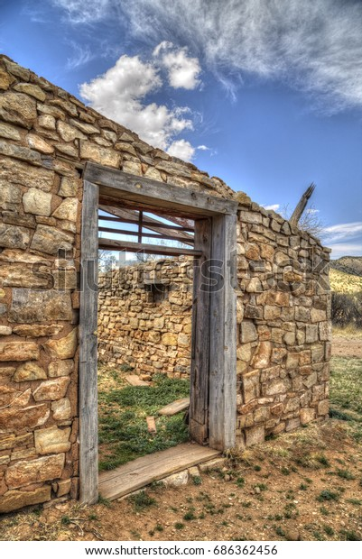 Jail Ruins Lincoln New Mexico Stock Photo (Edit Now) 686362456