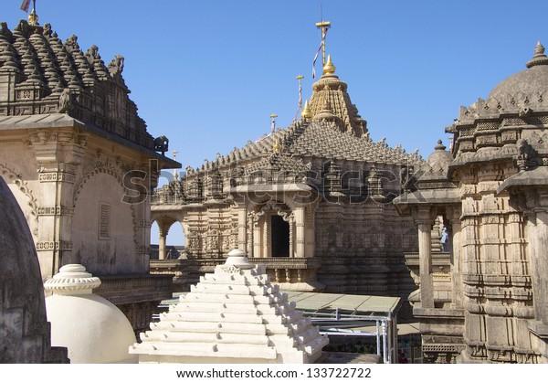 Jain Temples, Mount Shatrunjaya, Palitana, Gujarat, known as Shri Shatrunjaya Tirtha, Palitana.  These are important temples and shrines of the Jain religion.