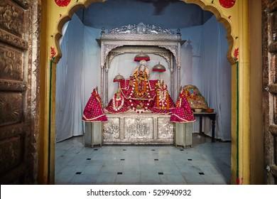 Jaipur - 10 October, 2016: Krishna's temple in Jaipur, India