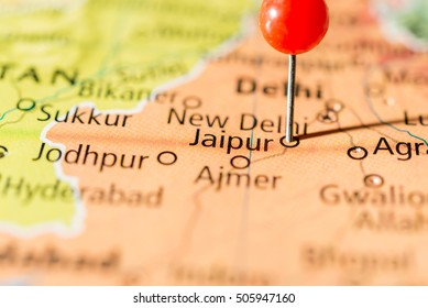 Jaipur Map Images, Stock Photos & Vectors | Shutterstock