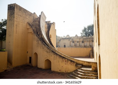 JAIPUR, INDIA - JANUARY 10, 2015: Old building with stairs on January 10, 2015 in Jaipur, India