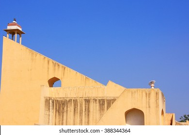 JAIPUR, INDIA - MARCH 2: Astronomical Observatory Jantar Mantar on March 2, 2011 in Jaipur, India. Jantar Mantar is a collection of 19 instruments, built by the Rajput king Sawai Jai Singh.