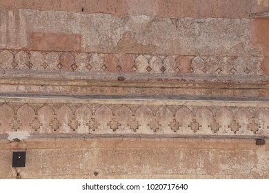 JAIPUR, INDIA - OCT 11, 2017 - Zenana Queen's quarters in the  Amber Fort near  Jaipur, Rajasthan, India