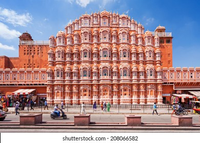 JAIPUR, INDIA - OCTOBER 09: Hawa Mahal palace - Palace of the Winds on October 09, 2013, Jaipur, India.
