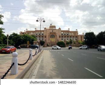 Jaipur/India-August 19, 2019 : The Rajasthan Assembly Building is one of the most modern legislature complexes in India. It is situated in Jyoti Nagar, Jaipur the capital of the state.