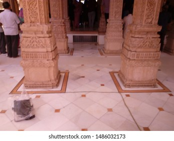 Jaipur/India-August 23, 2019: Akshardham temple Jaipur beautiful architecture columns.