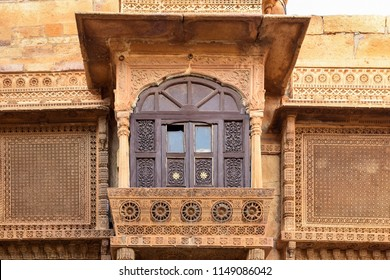 Jaisalmer fort oudoor and street view, Rajasthan, India.