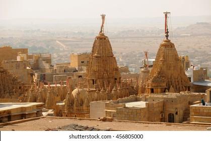 Jaisalmer the golden city, view from jaisalmer fort Rajasthan, India