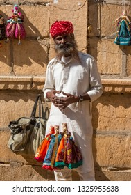 Jaisalmer, Rajasthan/India - Nov 2018:  The Puppet man