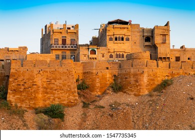 Jaisalmer,Rajasthan,India - October 15,2019: Jaisalmer Fort or Sonar Quila or Golden Fort. living fort - made of yellow sandstone. UNESCO world heritage site at Thar desert along old silk trade route.