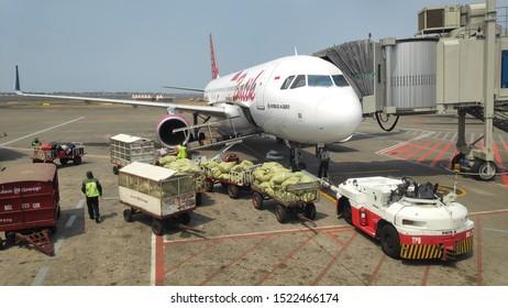 Jakarta, 3 october 2019 - activity atmosphere at Soekarno Hatta International Airport