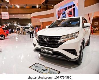 JAKARTA, APRIL 24th 2018 : A new variant of Daihatsu Terios, displayed at Indonesia International Motor Show - IIMS 2018 event, in Jakarta Indonesia.