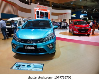 JAKARTA, APRIL 24th 2018 : A new variant of Daihatsu Sirion, displayed at Indonesia International Motor Show - IIMS 2018 event, in Jakarta Indonesia.