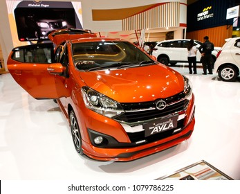 JAKARTA, APRIL 24th 2018 : A new variant of Daihatsu Ayla, displayed at Indonesia International Motor Show - IIMS 2018 event, in Jakarta Indonesia.