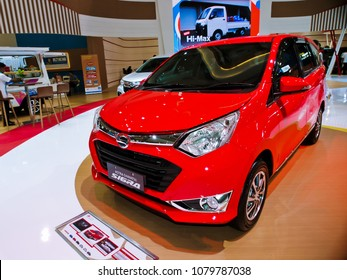 JAKARTA, APRIL 24th 2018 : A new variant of Daihatsu Sigra, displayed at Indonesia International Motor Show - IIMS 2018 event, in Jakarta Indonesia.