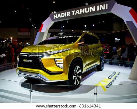 JAKARTA APRIL 30 A New Mitsubishi XM Concept Crossover MPV Displays At Indonesia International