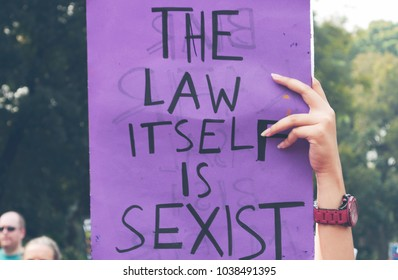 Jakarta, DKI Jakarta / Indonesia - March 3 2018: its some of poster, banner, words from women's march in Jakarta