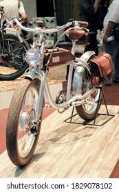 Jakarta, ID - 04/09/2016: Classic bikes at auto shows.