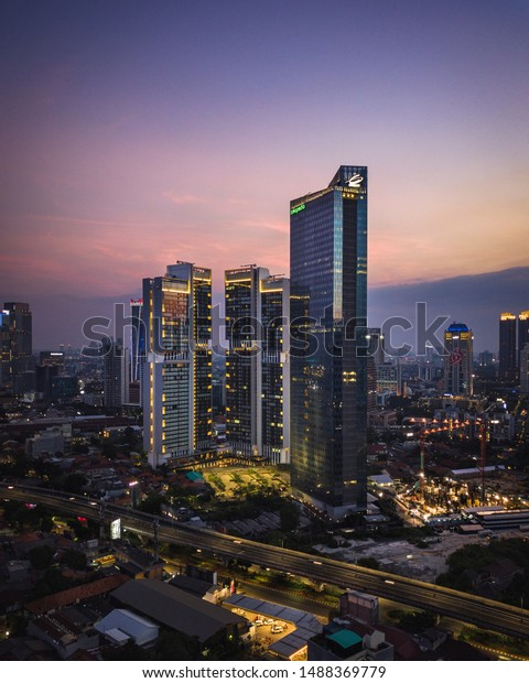Jakarta Indonesia 09092018 Aerial View Tokopedia Stock Photo Edit Now 1488369779