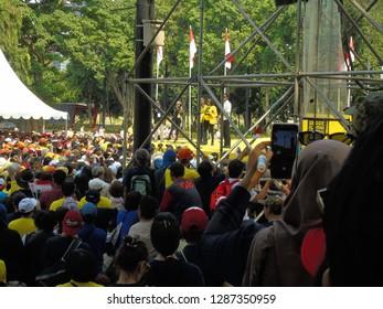Jakarta, Indonesia - 12 January 2019: Addie MS attends the declaration of Indonesian University (UI) alumni for Jokowi.