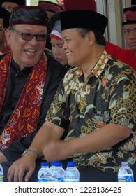 Jakarta, Indonesia - 4 November 2018: PKS politician Hidayat Nur Wahid attends the 411 Brigade declaration.