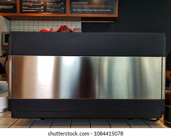 Jakarta, Indonesia - April 2018 : Espresso Machine in Coffee Shop
