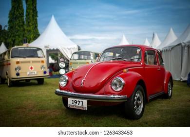 Jakarta / Indonesia - April 6, 2013 : Volkswagen Beetle type 1302S year 1971