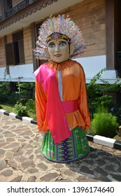 JAKARTA, INDONESIA - April 7th 2019, Ondel-ondel on Betawi cultural village, Traditional puppets