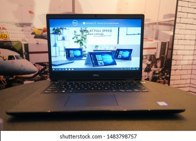 Jakarta, Indonesia - August 21, 2019: The Dell Latitude 2019 laptop series for small and medium business.