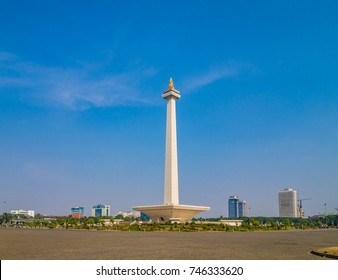JAKARTA, INDONESIA - AUGUST 28, 2011: National Monument (Monas) in  Jakarta, Indonesia.