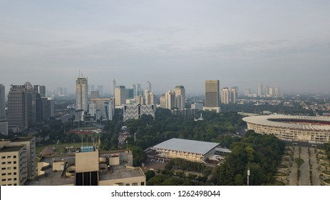 Jakarta, Indonesia - Dec 12, 2018 : Jakarta officially the Special Capital Region of Jakarta, is the capital of Indonesia. Jakarta is the center of economics, culture and politics of Indonesia