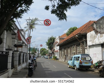 JAKARTA, INDONESIA - December 1, 2016: Vintage building in Kota Tua. Dutch colonial cultural heritage.
