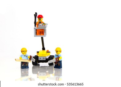 Jakarta, Indonesia - December 14, 2016 : Lego Construction Editional