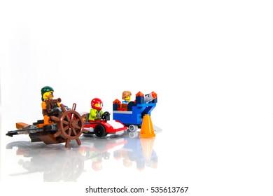 Jakarta, Indonesia - December 14, 2016 : Three Kind of Lego Character