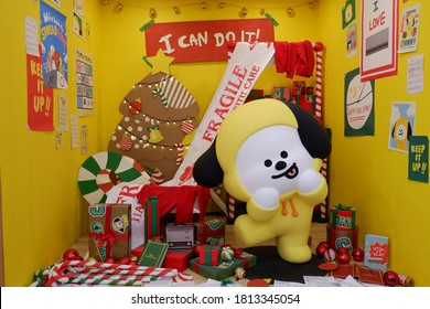 JAKARTA, INDONESIA - DECEMBER 15, 2019: Chimmy is the character of Jimin, a member of BTS