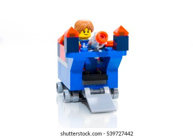 Jakarta, Indonesia - December 20, 2016 : Lego Knight Collection on White Background