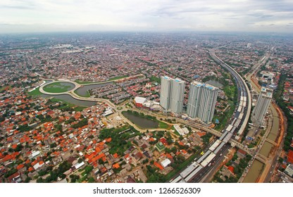 Jakarta, Indonesia - December 24, 2018 : Jakarta City is a Capital City of Indonesia. The first largest city and Central Goverment of Indonesian Republic
