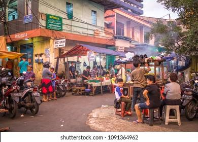 JAKARTA, INDONESIA - FEBRUARY 10, 2018: People on the streets of Jakarta, capital city of Indonesia.
