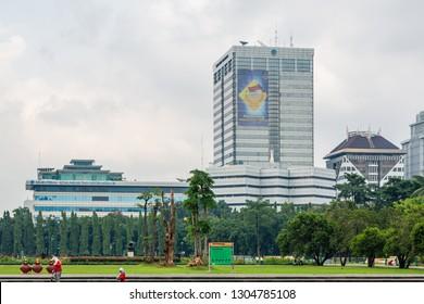 Jakarta, Indonesia - February 2 2015: Ministry of Communication and Information Technology (bahasa: Kementerian Komunikasi dan Informatika)
