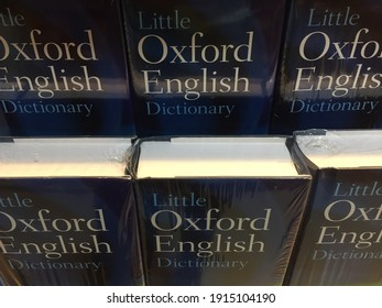 Jakarta, Indonesia - February 2021: The Oxford English Dictionary, published by Oxford University Press, is a comprehensive dictionary of the English language