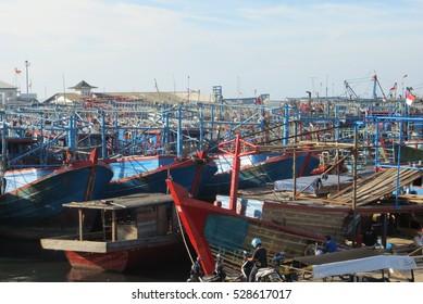 JAKARTA, INDONESIA - January 11, 2015: Muara Angke fishermen village.