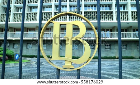 JAKARTA, INDONESIA - JANUARY 17, 2017: Bank Indonesia, the central bank of the Republic of Indonesia at Jl. MH Thamrin, Central Jakarta