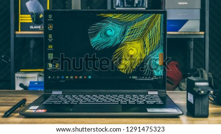 Jakarta Indonesia January 2 2019 Lenovo Stock Photo (Edit