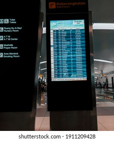 Jakarta, Indonesia - January 2021. the atmosphere at the airport during the pandemic, Indonesia.