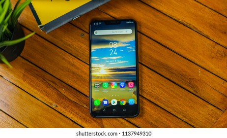 Jakarta, Indonesia - July 19, 2018. The Asus Zenfone 5 Android smartphone.