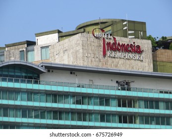 JAKARTA, INDONESIA - July 9, 2017: Hotel Indonesia Kempinski (HI), one of the oldest and best known hotel in Indonesia.