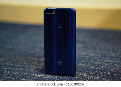 Jakarta, Indonesia - July 9, 2018: The Huawei Honor 7A packs a 13-megapixel primary camera on the rear and a 8-megapixel front shooter for selfies.